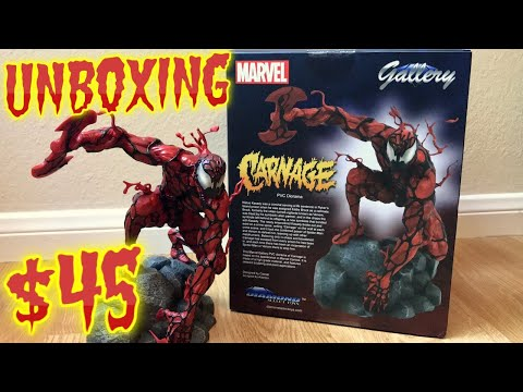 *carnage*-diamond-select-marvel-gallery-pvc-figure-|-unboxing-&-review