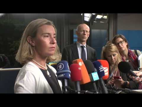 Remarks by Federica Mogherini upon arrival at the Foreign Affairs Council