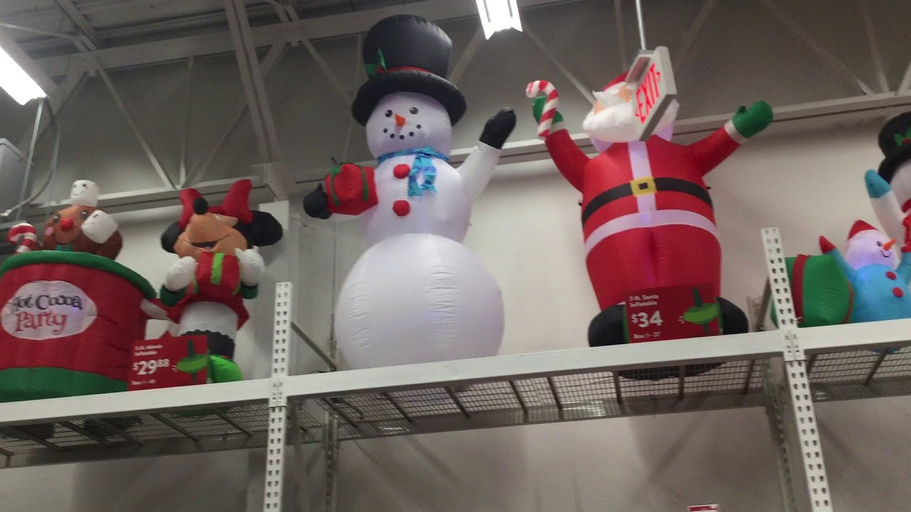 walmart christmas inflatables on display 2017 - Christmas Inflatables At Walmart