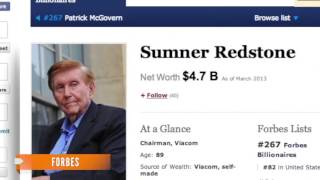 IRS Sumner Redstone Owes More Than $1M in Taxes - Lastest News