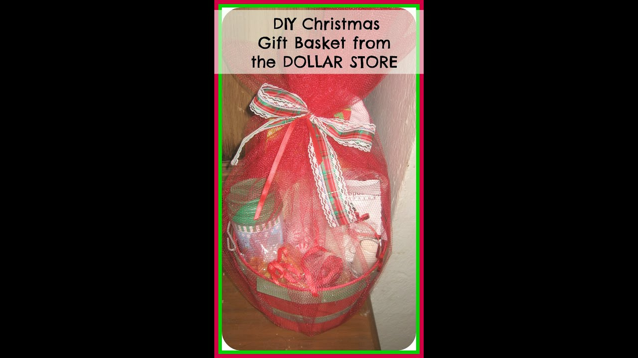 diy how to make christmas gift basket from the dollar store easy diy christmas gifts youtube