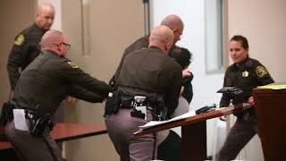 Man Struggles Against Deputies As He Is Sentenced For Murdering A 4 Year Old (graphic Content)