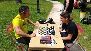 Chessboxing le 23 juin 2018 au Beach avec Fred et Erwan