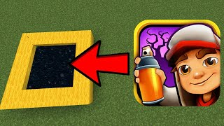 How To Make A Portal To The Subway Surfers World in Minecraft