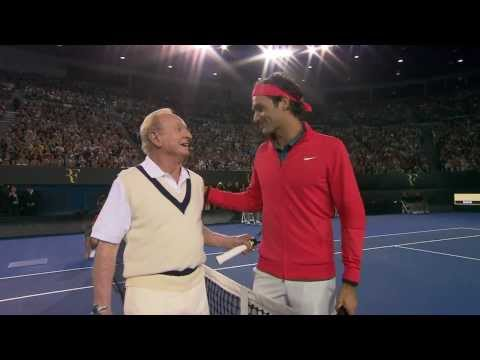 A Legendary Warm-Up With Federer & Laver | Australian Open
