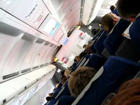 Schreihals im Flugzeug