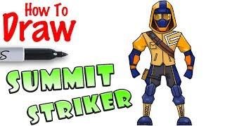 How to Draw Summit Striker | Fortnite