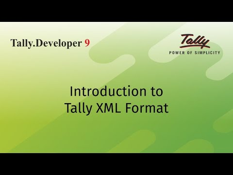 Introduction to Tally XML Format