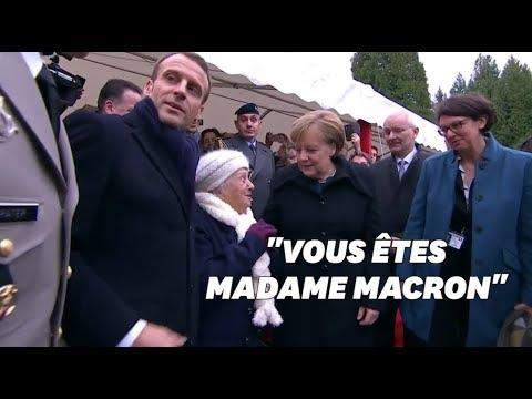 """""""Je suis la chancelière allemande"""": cette centenaire a confondu Merkel avec """"Mme Macron"""""""
