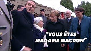 مسنة فرنسية لميركل: هل أنت زوجة ماكرون؟ – (فيديو) | القدس العربي