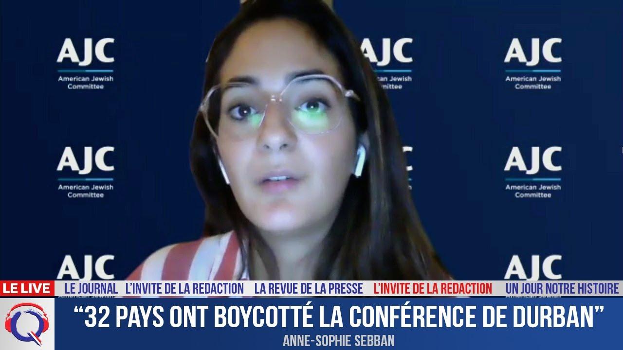 """""""32 pays ont boycotté la Conférence de Durban"""" -  L'invité du 24 septembre 2021"""