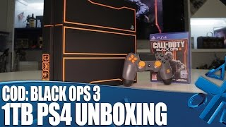 call of duty black ops 3 limited edition 1tb ps4 unboxing