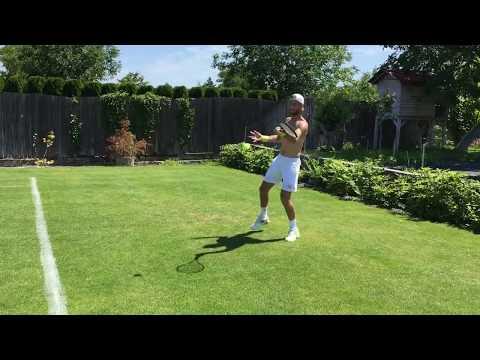 Martin Klizan backyard grass practice