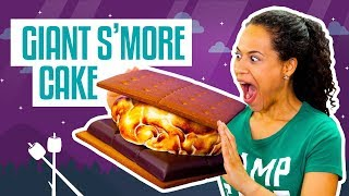 How To Make A Giant S'Mores CAKE | Fluffy Marshmallow Fondant | Yolanda Gampp | How To Cake It