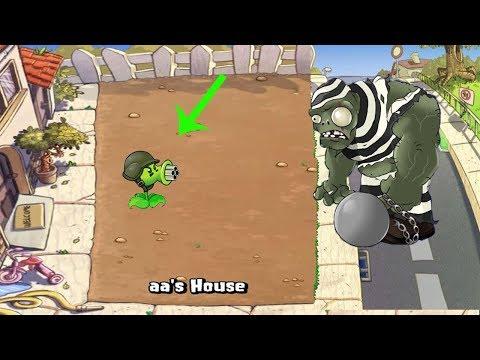 1 Gatling Pea vs Gargantuar vs Giga-Gargantuar Plants vs Zombies