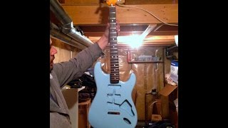 Jimmy Page had one this colour! 72 Strat is PAINTED AND CLEARED!