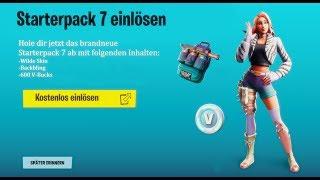 NEU!! Kostenloses Starterpack 7 (Wildette Skin) bekommen!! *SO GEHT'S* Fortnite Wildette Pack