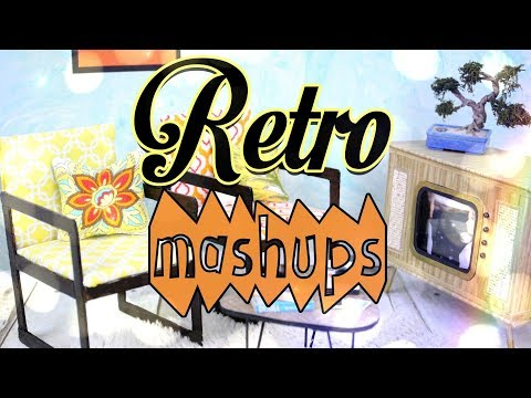 Mash Ups: Retro Doll Crafts | Polaroid Camera | Record Player | Retro Television & More