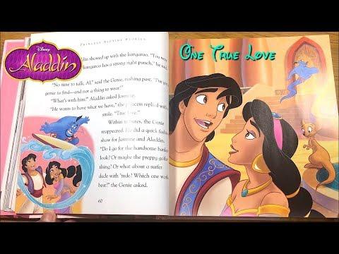 Disney Princess Bedtime Storybook - Aladdin One True Love - Read Along For Kids