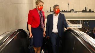 Berliner SPD wählt Giffey in neues Führungsduo mit Saleh