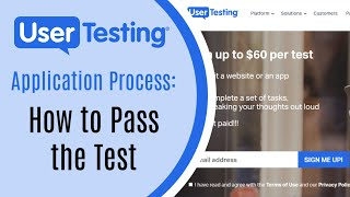 UserTesting Application: How to Pass the Test in 2019