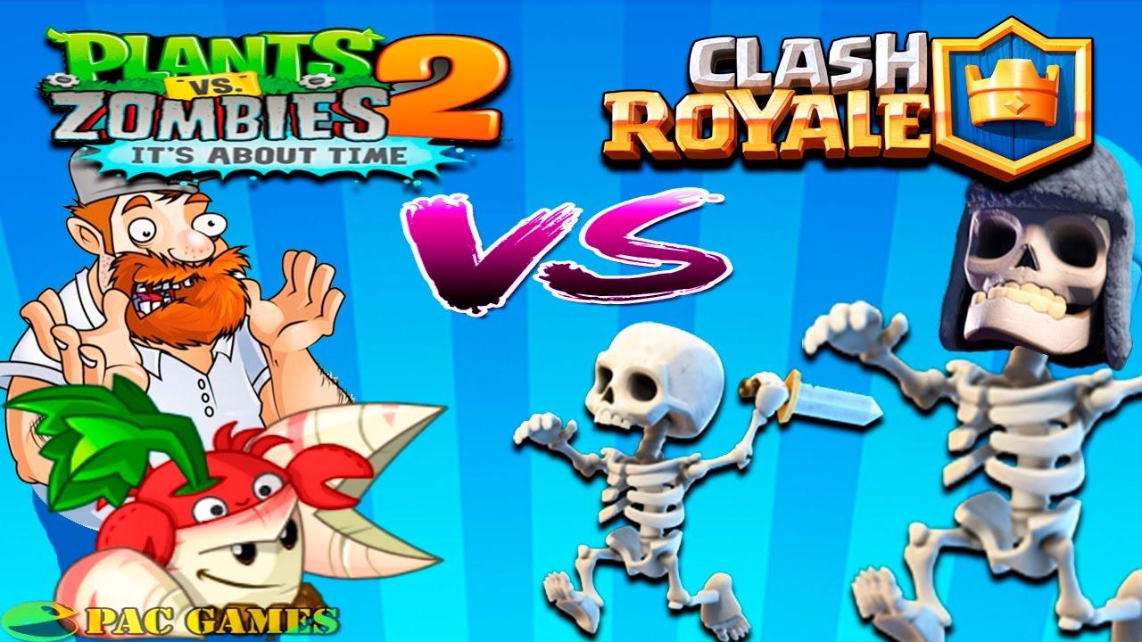 Plants Vs Zombies 2 Vs Clash Royale / Clash of Clans - YouTube