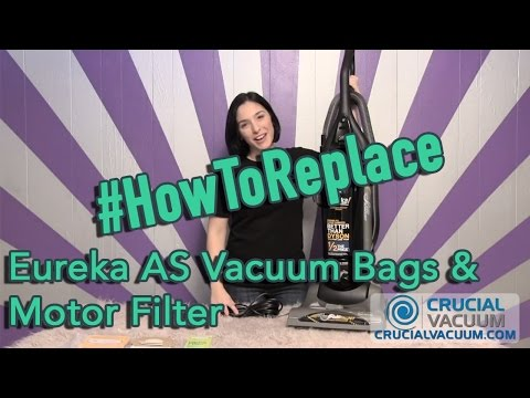 Eureka AS Vacuum Bags & Motor Filter, Replacement Part # 66655, 68155-6, 68155, 67726 & AS1051A