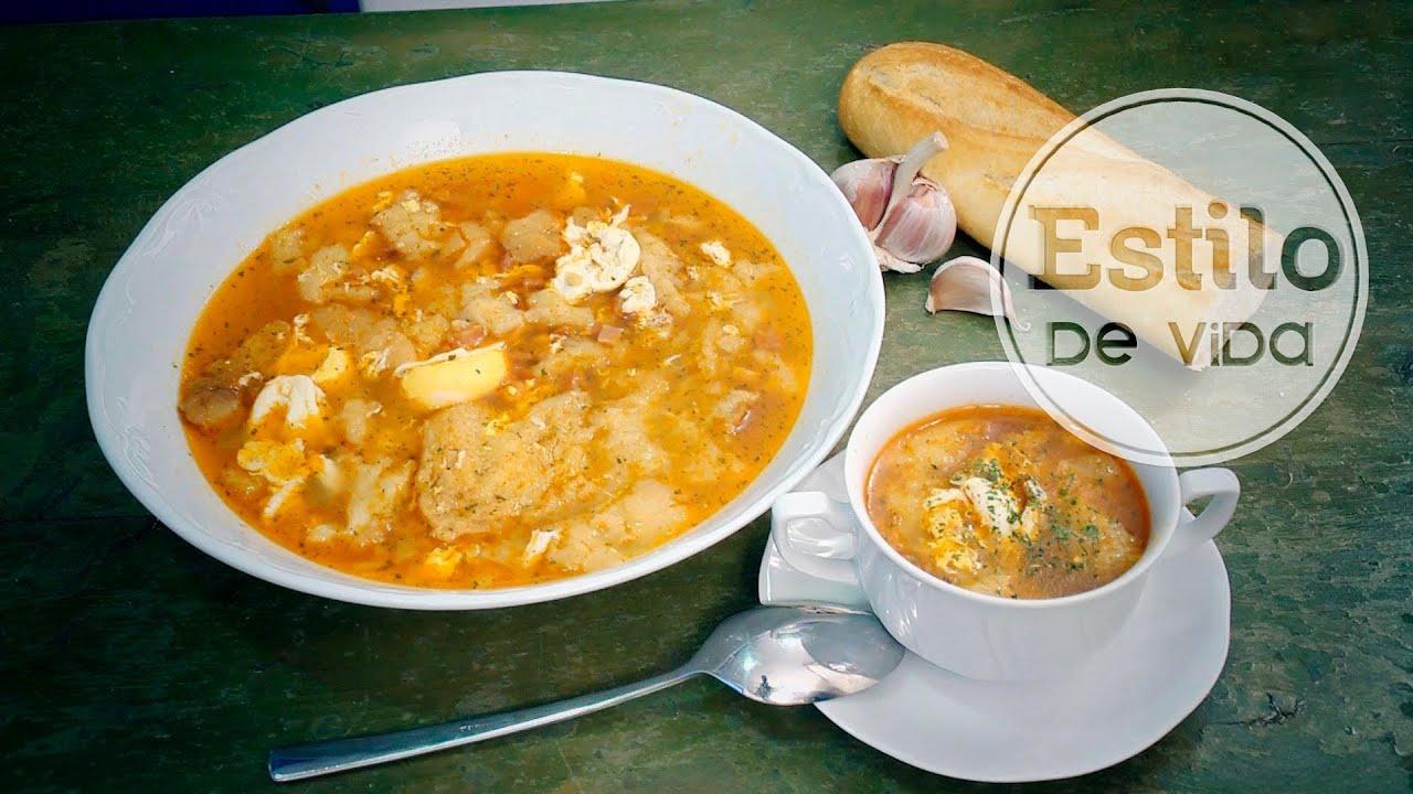 Sopa de ajo receta de sopa castellana youtube - Sopa castellana youtube ...