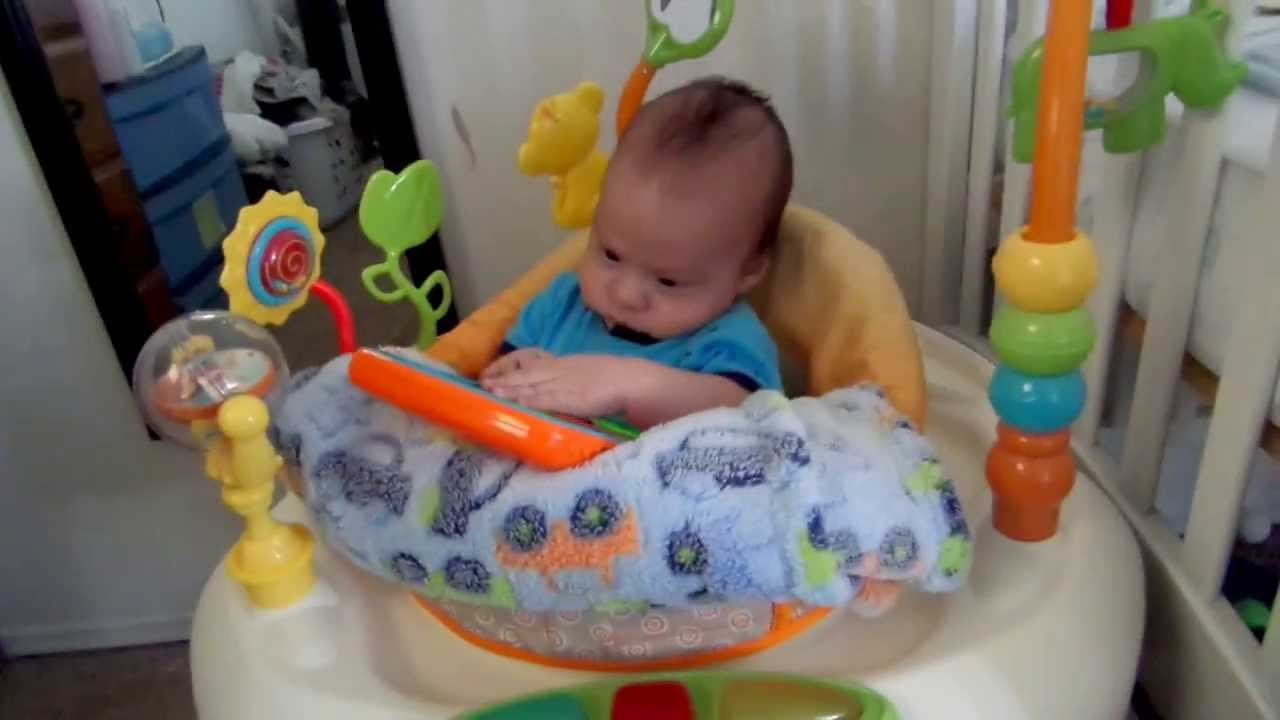 2 Month Old In A Bouncer Youtube