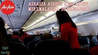 Video AIRASIA AK1757   MIRI TO SINGAPORE   ECONOMY CLASS   AIRBUS A320 download MP3, 3GP, MP4, WEBM, AVI, FLV Juni 2018