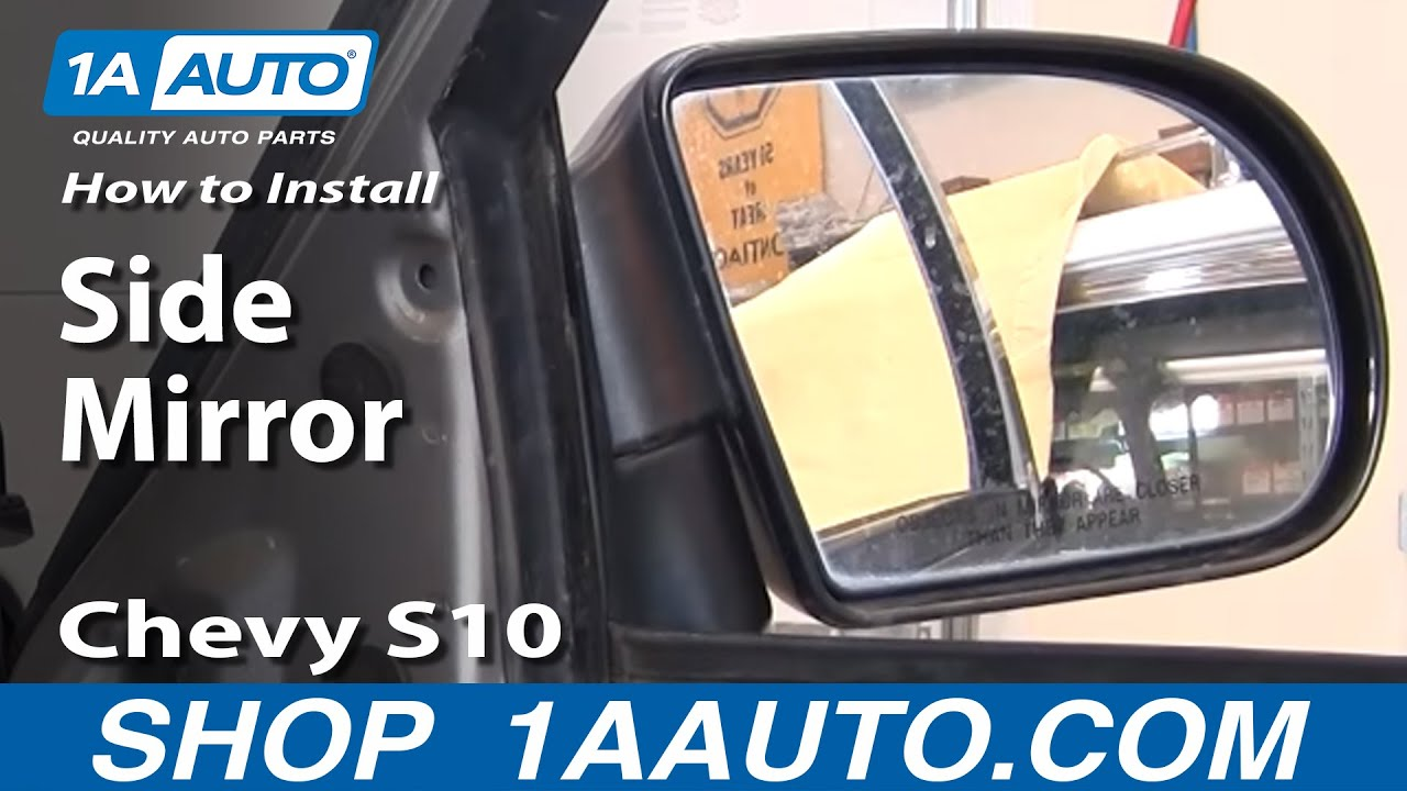 how to replace mirror 99-04 chevy s10 pickup