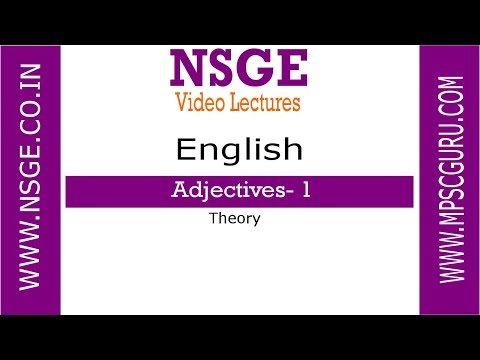 Adjective Part 1 English Grammar Theory