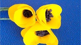 DIY: Цветы из салфеток♡ Тюльпаны из бумаги ♡ Как украсить комнату в стиле ТАМБЛЕР♡
