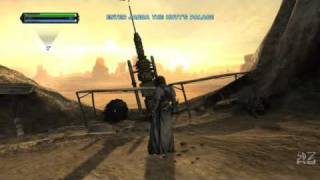 Star Wars: The Force Unleashed Ultimate Sith Edition PC Tatooine gameplay (720p HD playback)