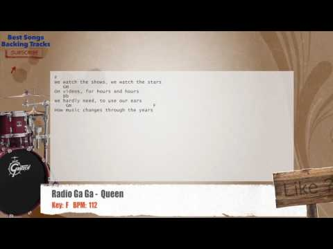 Radio Ga Ga -  Queen Drums Backing Track with chords and lyrics