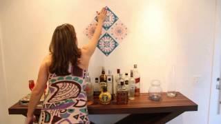 Renove sua casa com FLOK Tecido Adesivo - Bar / Mandalas