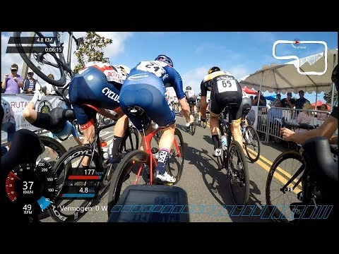 DANA POINT GRAND PRIX PRO-1 2018 (massive crash pile up) - #cycling