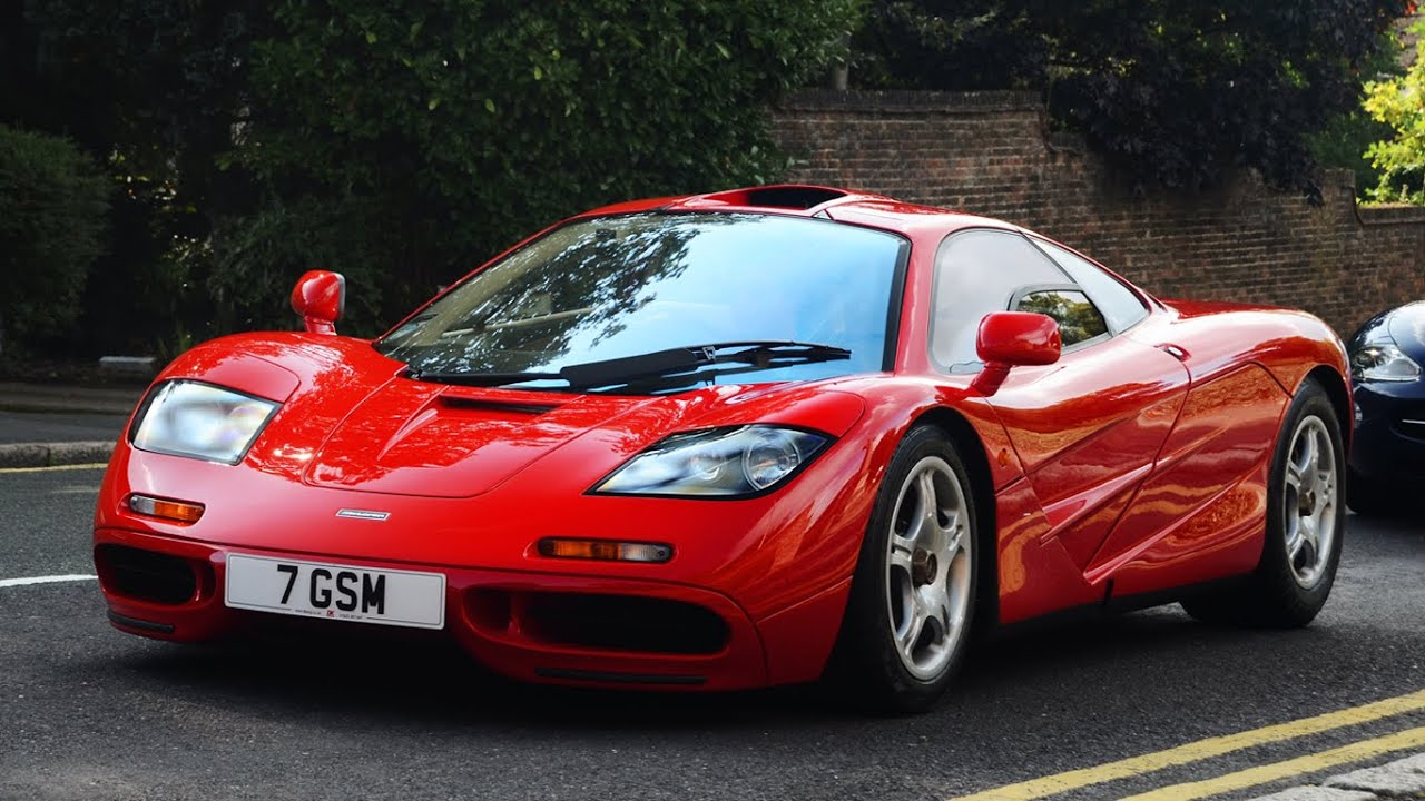 Red McLaren F1 - start up, sounds & scenes - YouTube