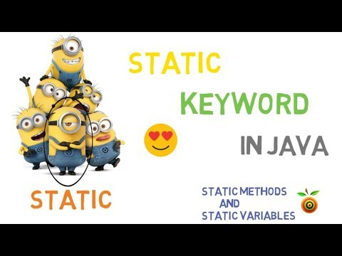 29 - Static Keyword in Java | Static variables and Static Methods
