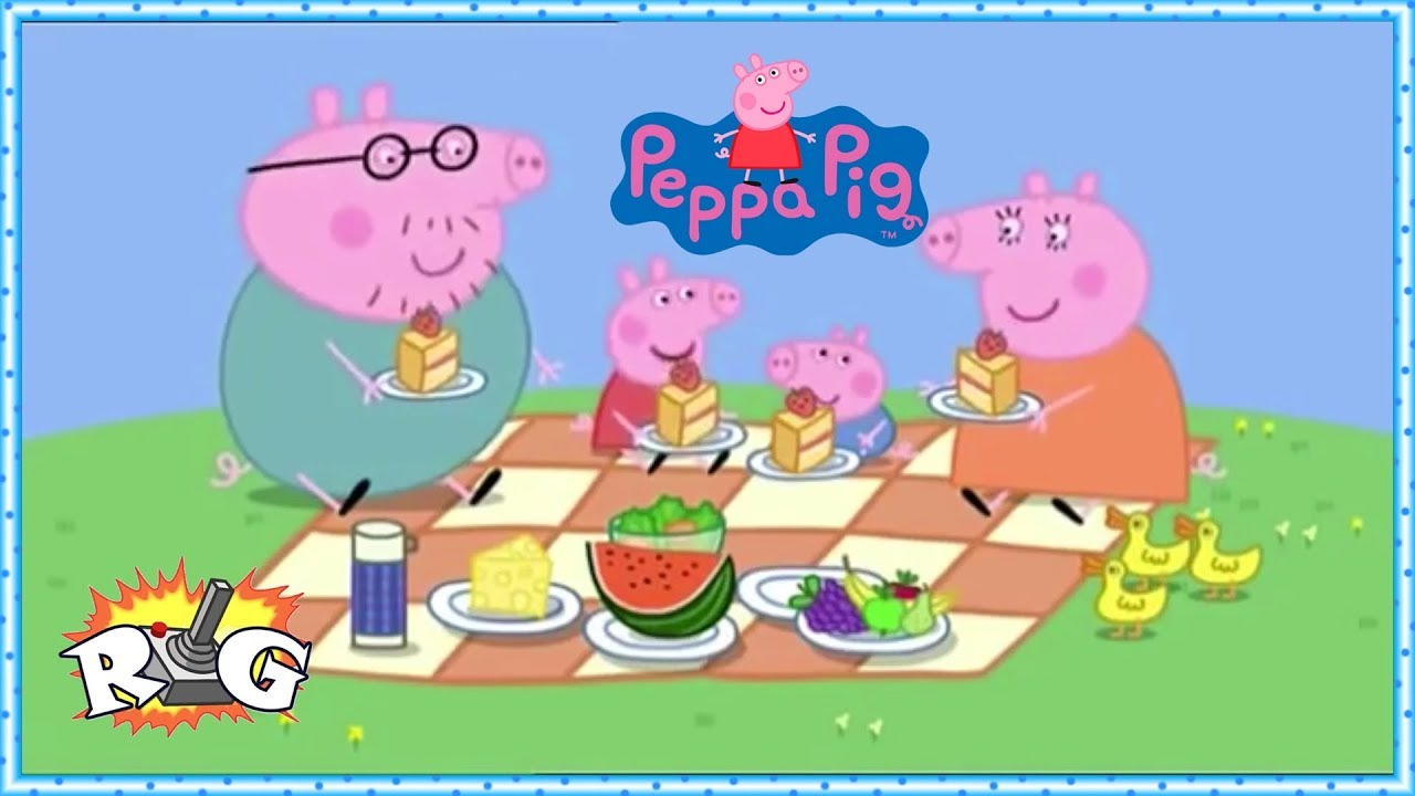 Peppa Pig Picnic En Familia Puzzle Youtube