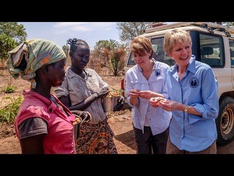 Sister Bingham Visits Refugee Camp in Uganda