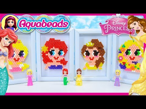 Thumbnail: Disney Princess Aquabeads Portraits Craft Review Silly Play Kids Toys Rapunzel Ariel Belle Aurora