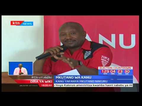 KANU Yafanya Mkutano Nakuru Kuzungumzia Mchakato Wa Mchujo Wa Chama