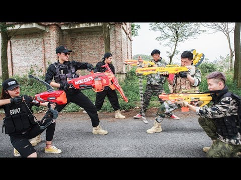 LTT Nerf War : Seal X Special Task Skill Nerf Guns Battle Attack Criminal Group