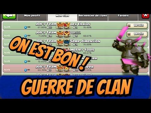 Guerre de clan ! On Est Bonnn ! Job's Team ! Clash of clans !