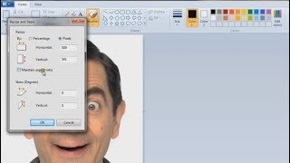 How to resize photograph, signąture in paint (Explained in Hindi)