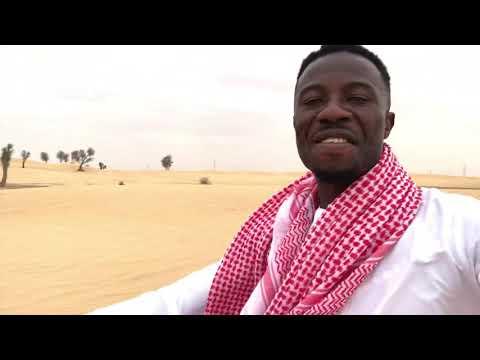 Kwaku Manu Aggressive Riding Tricycle On Dubai Desert