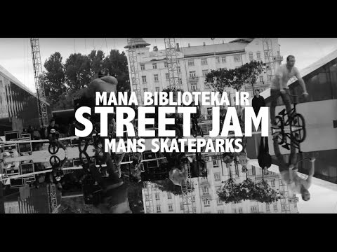 BMX Street Jam At National Library In RIGA