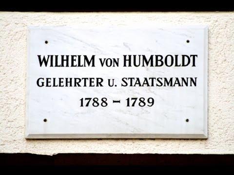 🔴 Wilhelm von Humboldt • Gelehrter und Staatsmann • 1788-1789 • Mühlenstraße 4 - Göttinger Tafel ...