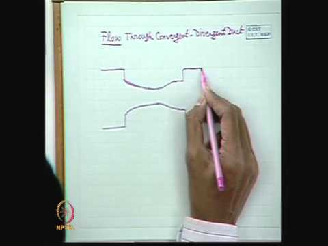 Mod-01 Lec-32 Isentropic Flow through Convergent - Divergent Duct